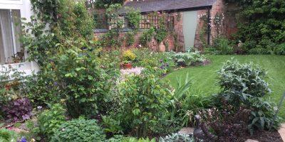Storyteller's garden in May