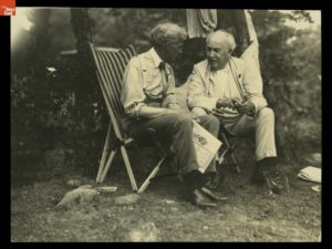 Henry Ford and Thomas Edison, 1921 Camping Trip. From the collections of The Henry Ford